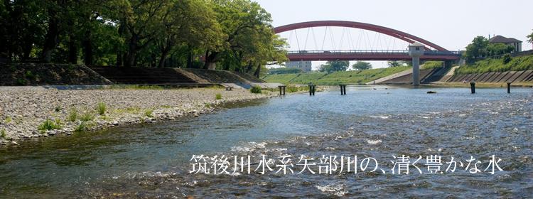 筑後川水系矢部川の、清く豊かな水